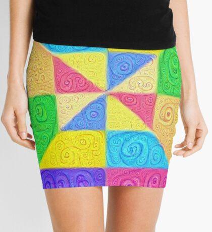 DeepDream Color Squares Visual Areas 5x5K v1448115896 Mini Skirt