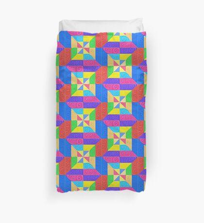 DeepDream Color Squares Visual Areas 5x5K v1448115896 Duvet Cover