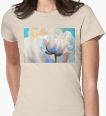 Coco In Love, dramatic floral art Womens Fitted T-Shirt