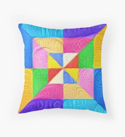 DeepDream Color Squares Visual Areas 5x5K v1448123183 Throw Pillow