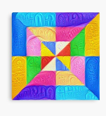 DeepDream Color Squares Visual Areas 5x5K v1448123183 Canvas Print