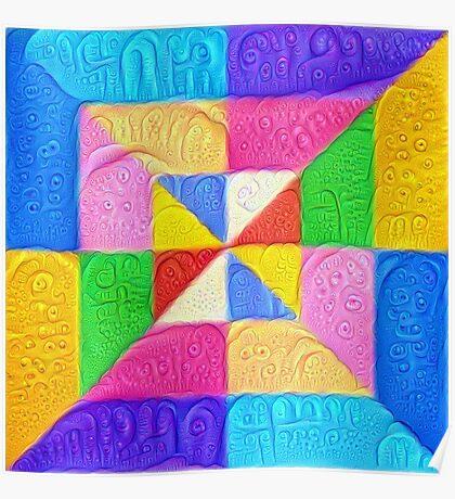 DeepDream Color Squares Visual Areas 5x5K v1448123183 Poster
