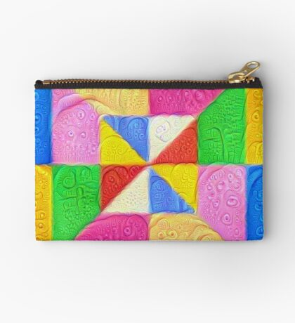 DeepDream Color Squares Visual Areas 5x5K v1448123183 Zipper Pouch