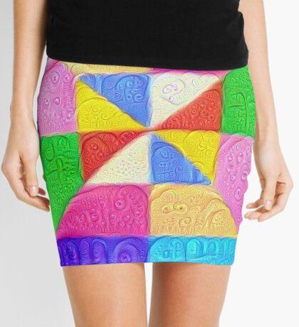 DeepDream Color Squares Visual Areas 5x5K v1448123183 Mini Skirt