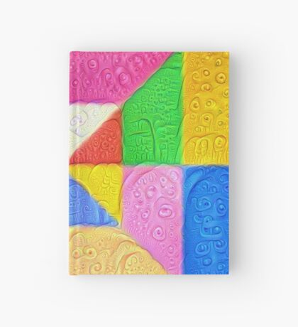 DeepDream Color Squares Visual Areas 5x5K v1448123183 Hardcover Journal