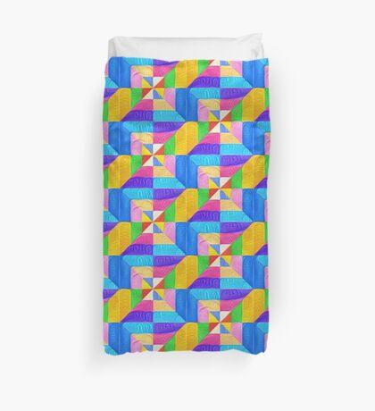 DeepDream Color Squares Visual Areas 5x5K v1448123183 Duvet Cover