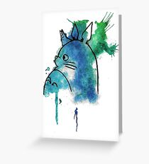 Edgy greeting cards redbubble studio ghibli totoro watercolour greeting card m4hsunfo Images