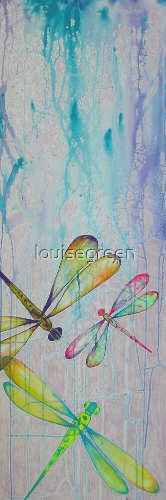 Dragonfly Abstract by louisegreen