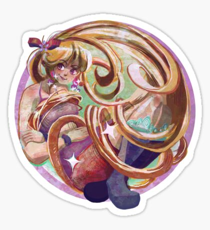 Longhaired Lady Sticker