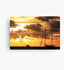 MCC Sunset Sailing Canvas Print