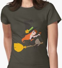 Cute Redhaired Witch Womens Fitted T-Shirt