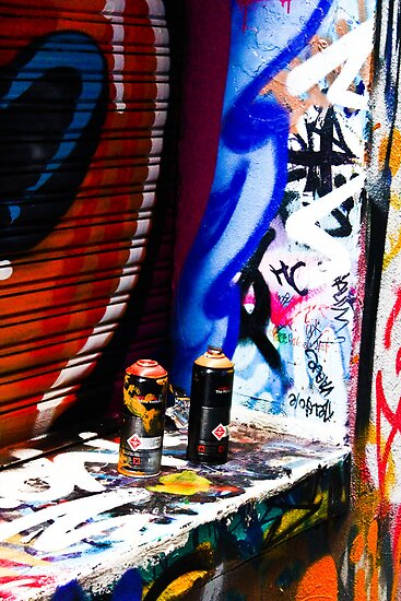 Spray Cans 2 by Leonie Morris