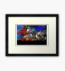 Pulp Planet Terrain Framed Print
