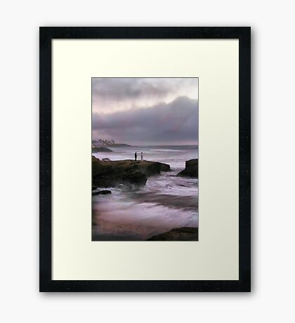 On Sunset Cliffs Framed Print