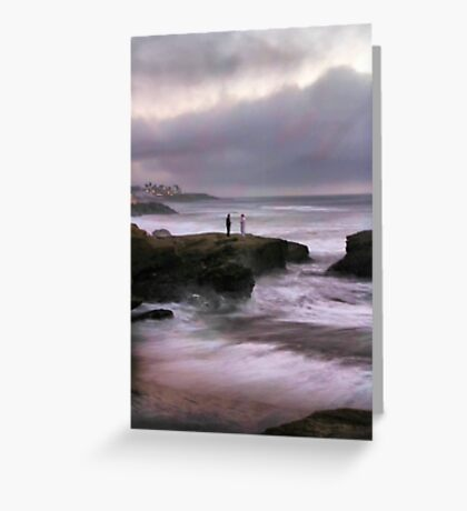 On Sunset Cliffs Greeting Card