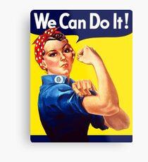 Rosie The Riveter - We Can Do It Metal Print