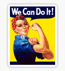 Rosie The Riveter - We Can Do It Sticker