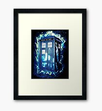 Dr Who Tardis - British Police Box Lost In Space Framed Print