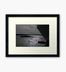 Nautical Silhouettes Framed Print