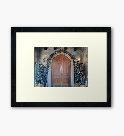Christmas at the Castle (doors) Framed Print