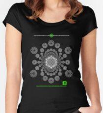 Crop Circle Metatron Vortex 22 - Oct 2012 Merch Women's Fitted Scoop T-Shirt