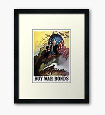 Uncle Sam - Buy War Bonds  Framed Print