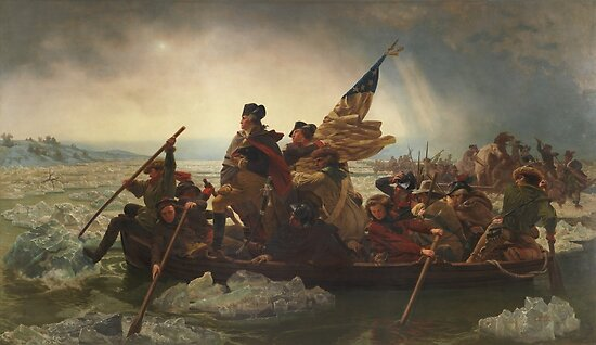 Washington Crossing The Delaware by warishellstore