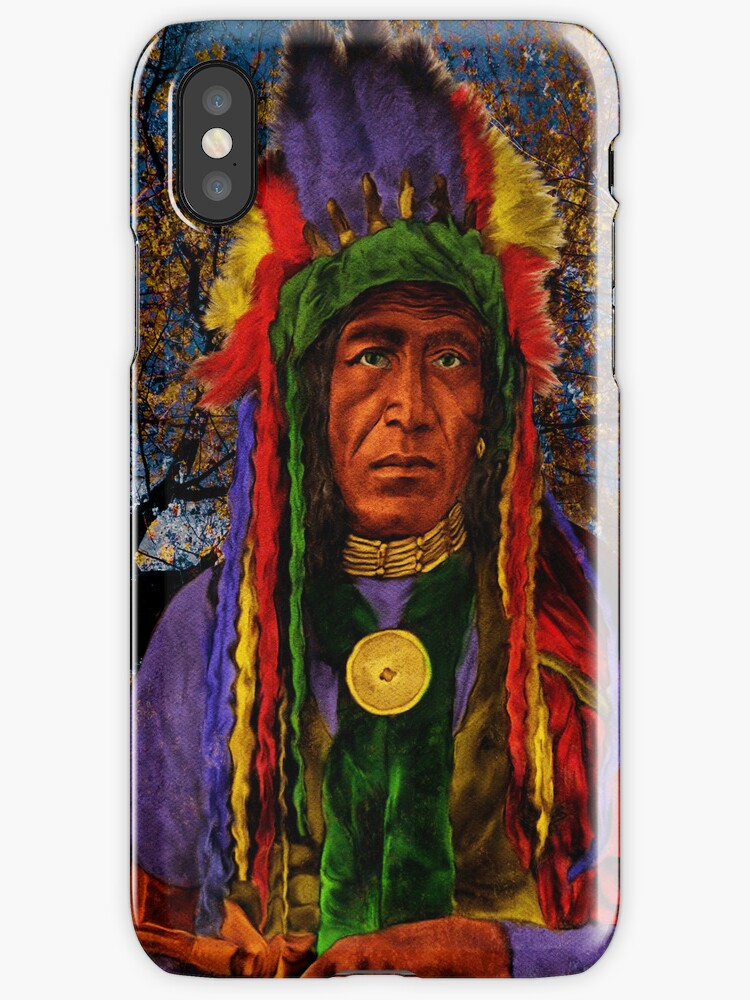 iPHONE Case-Native Warrior by Pamela Phelps