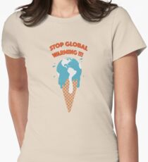 Melting earth Womens Fitted T-Shirt