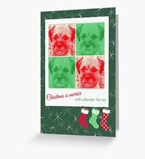 Christmas is merrier Greeting Card