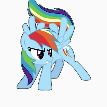 Rainbow Dash Comic Art Tee by XwolfskaX
