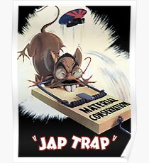 Material Conservation - Jap Trap - WW2 Poster