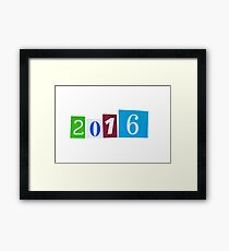 Paper Cutout 2016 Year Number Framed Print
