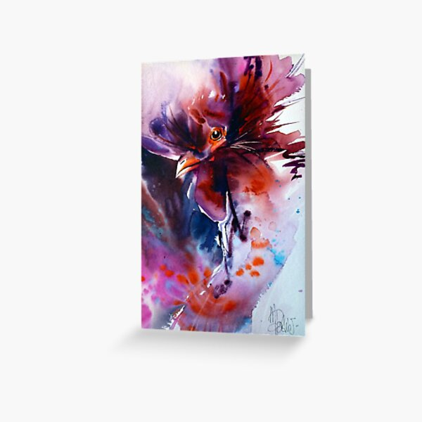 Un Coq Rouge Greeting Card