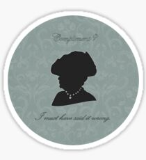 Violet Crawley Sticker