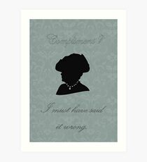 Violet Crawley Art Print