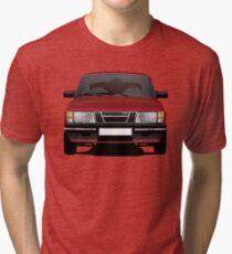 SAAB 900 Turbo illustration red Tri-blend T-Shirt