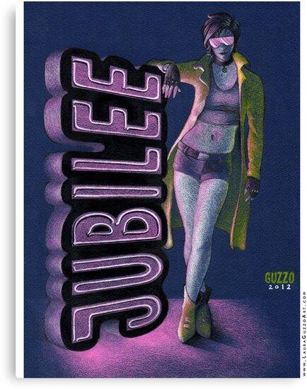 Jubilee from Xmen - 90's Style by Laura Guzzo
