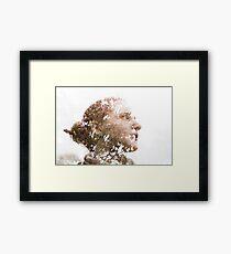 Aimée, Multiple exposure Framed Print