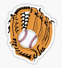 Baseball and Glove Sticker