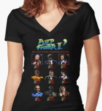 Pulp Fighter II: Motherfuckin' Champion Edition Women's Fitted V-Neck T-Shirt