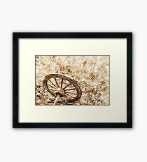 Wagon Wheel - sepia Framed Print