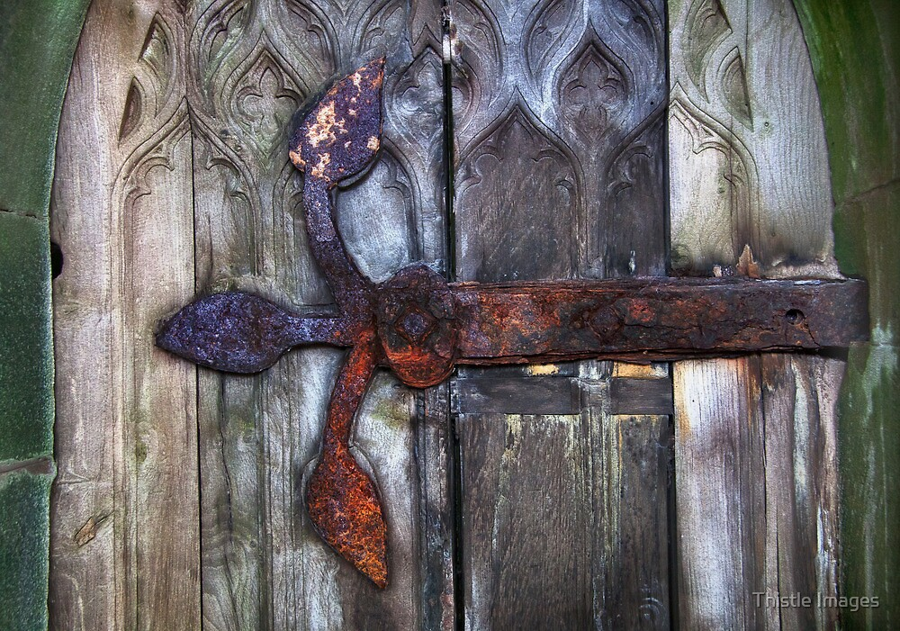 Rusty Hinge by Thistle Images