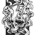 Smokey Skull Design by Paula Stirland