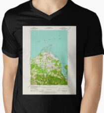 USGS Topo Map Washington State WA Dungeness 240898 1938 62500 Men's V-Neck T-Shirt
