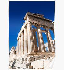 Ruins, Acropolis, Athens, Greece Poster