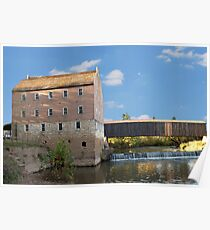 Bollinger Mill and Burfordville Covered Bridge Poster