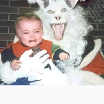 Crazy Rabbit Santa by StudentXDesigns