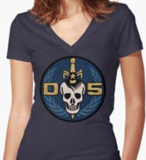 Danger 5 Emblem (Gigantic) Women's Fitted V-Neck T-Shirt