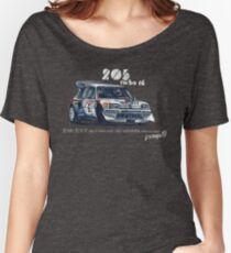 Rally Group B-Peugeot 205 Turbo 16 Women's Relaxed Fit T-Shirt